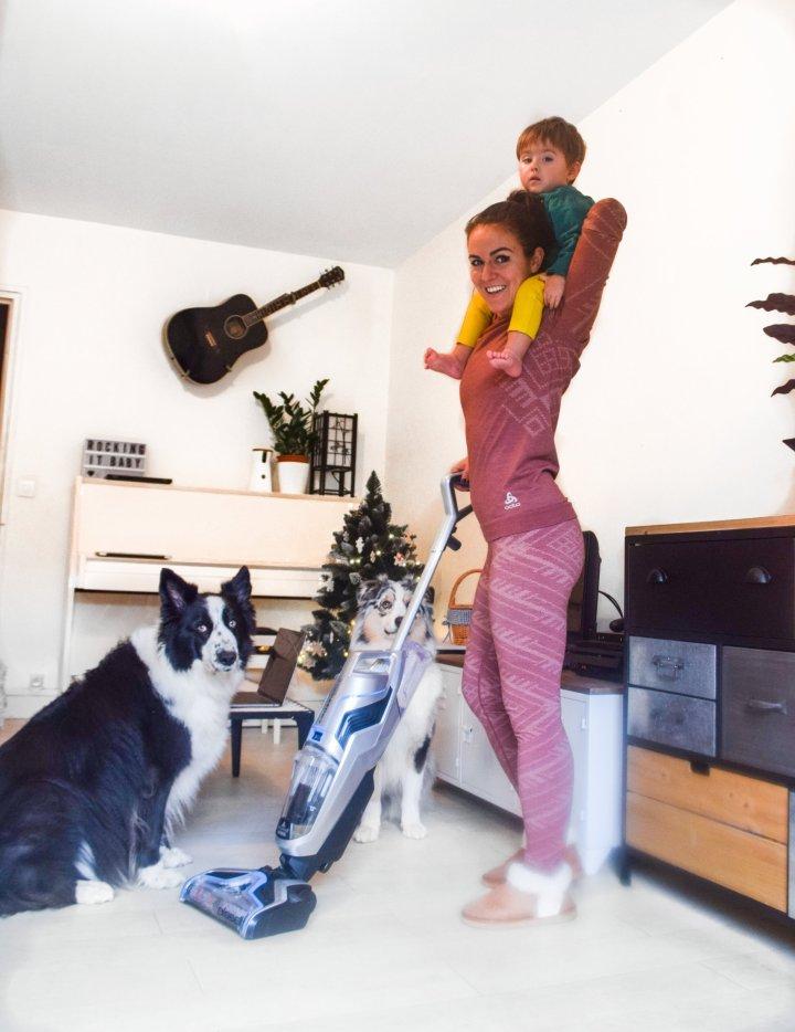 Peut-on être maniaque de la propreté en ayant un bébé et des chiens?